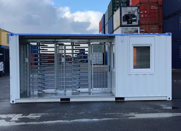 Drehkreuz Container